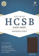 HCSB Giant Print Reference Bible Brown Genuine Cowhide Indexed Genuine Leather