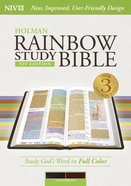 NIV Rainbow Study Bible Saddle Brown Indexed Imitation Leather