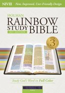 NIV Rainbow Study Bible Purple Indexed Imitation Leather