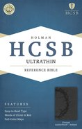 HCSB Ultrathin Reference Indexed Bible Charcoal Premium Imitation Leather