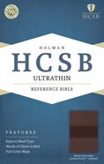 HCSB Ultrathin Reference Indexed Bible Brown/Chocolate Premium Imitation Leather