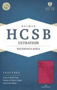 HCSB Ultrathin Reference Bible Pink Premium Imitation Leather