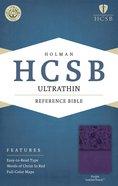 HCSB Ultrathin Reference Bible Purple Premium Imitation Leather