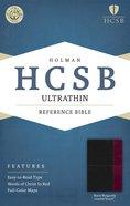 HCSB Ultrathin Reference Bible Black/Burgundy Premium Imitation Leather