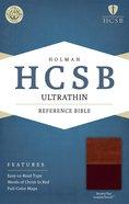 HCSB Ultrathin Reference Bible Brown/Tan Premium Imitation Leather