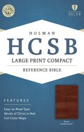 HCSB Large Print Compact Bible Brown Premium Imitation Leather
