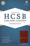 HCSB Large Print Ultrathin Reference Indexed Bible Brown Premium Imitation Leather