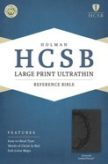 HCSB Large Print Ultrathin Reference Bible Charcoal Premium Imitation Leather