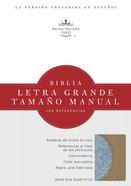 Rvr 1960 Biblia Letra Grande Tamano Manual Celeste/Caqui Simil Piel Sky Blue/Khaki (Spanish Bible) Premium Imitation Leather