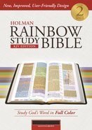 KJV Holman Rainbow Study Bible Brown Premium Imitation Leather