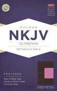 NKJV Ultrathin Reference Indexed Bible Brown/Pink With Magnetic Flap Premium Imitation Leather