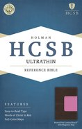 HCSB Ultrathin Reference Bible Brown/Pink With Magnetic Flap Premium Imitation Leather