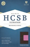 HCSB Ultrathin Reference Indexed Bible Brown/Pink With Magnetic Flap Premium Imitation Leather