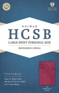 HCSB Large Print Personal Size Indexed Bible Pink