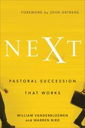 Next: Pastoral Succession That Works Hardback