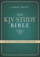 KJV Study Bible Large Print Hardback