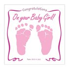 Baby Girl Greeting Card With CD Cards
