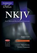 NKJV Pitt Minion Reference Brown Goatskin (Red Letter Edition) Genuine Leather