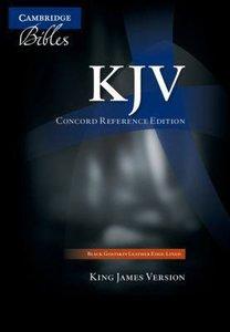 KJV Cambridge Concord Reference Edition Black Goatskin Leather (Black Letter Edition) (Red Letter Edition)