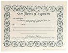 Certificate Baptism: Decorative Border (6 Pack) Pack