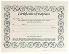 Certificate Baptism: Decorative Border (6 Pack)