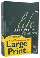 NLT Life Application Study Bible Large Print (Red Letter Edition) Hardback