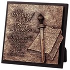 Moments of Faith Sculpture Plaque: Word of God (Square)