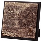 Moments of Faith Sculpture Plaque: Mustard Seed - Faith )Square)