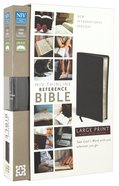 NIV Thinline Reference Large Print Bible Black (Black Letter) Bonded Leather