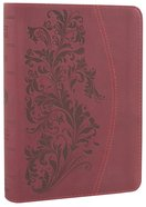 ESV Large Print Compact Bible Trutone Ruby Bloom Imitation Leather