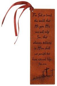 Bookmark: John 3:16 Luxleather