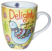 Ceramic Mug With Scripture: Delight Yourself in the Lord