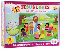 Jumbo Floor Puzzle With CD: Jesus Loves the Little Children (Incl Song & Activity Cd)