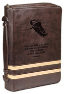 Bible Cover Isaiah 40:31 Eagle/Brown Large Classic Luxleather
