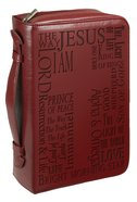 Bible Cover Classic Large: Names of Jesus Burgundy