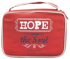 Bible Cover Canvas Red Hope Large Hebrews 6:19