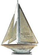 Sailboat Metal: We Cannot Direct the Wind 'Bertha Calloway' (Cream) Homeware