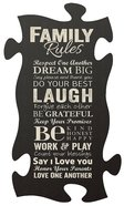 Puzzle Pieces Wall Art: Family Rules