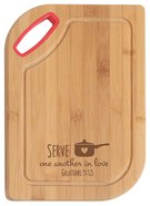 Hardwood Bamboo Cutting Board: Serve One Another, Galatians 5:13