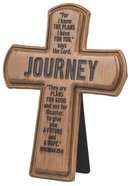 Cross: Wood Look Cast Stone: Journey Plaque