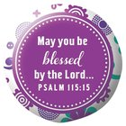 Be Series: Magnet Acrylic Button - Be Blessed (Purple Floral) Novelty
