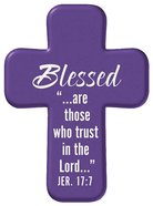 Squeezable Pocket Cross With Card: Blessed (Purple) Homeware