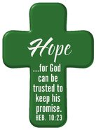 Squeezable Foam Rubber Pocket Cross With Card: Hope (Green) Homeware