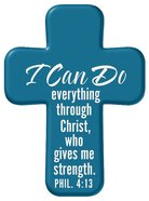 Squeezable Pocket Cross With Card: I Can Do (Blue) Homeware