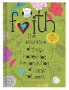 Scripture Journal: Faith Hebrews 11:1, Owl, Green Hardback