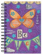Spiral Journal: Be Glad Butterfly Purple Spiral