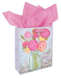 Gift Bag Medium Petals of Praise: Grace Peace Joy Love