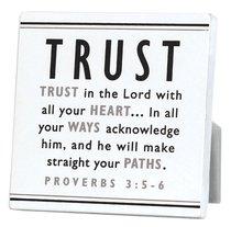 Black and White Series Plaque: Trust