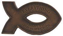 Cast Stone Fish Magnet: Copper Finish, I Can Do All Things Through Christ