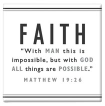 Black and White Series Magnet: Faith